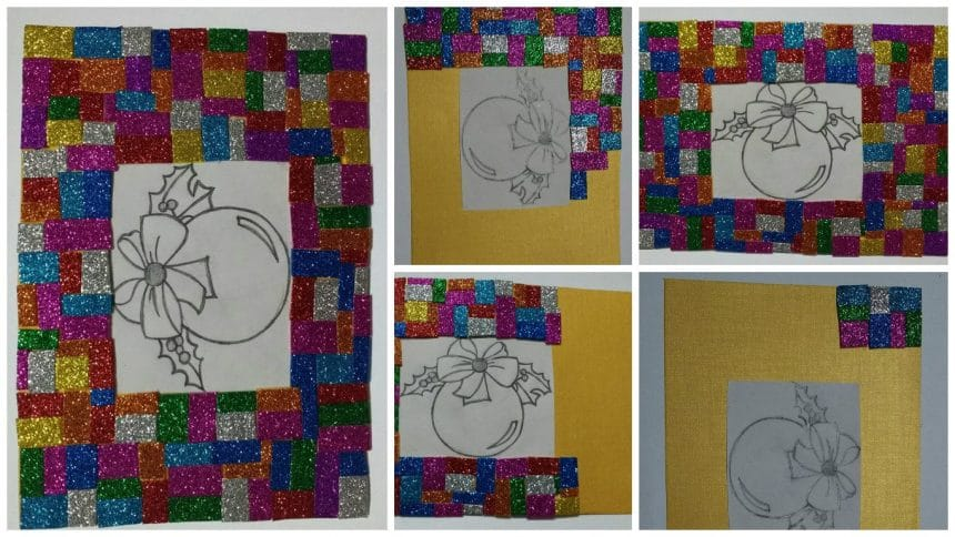 How To Make Frame With Glitter Foam Sheet Pieces Simple Craft Ideas