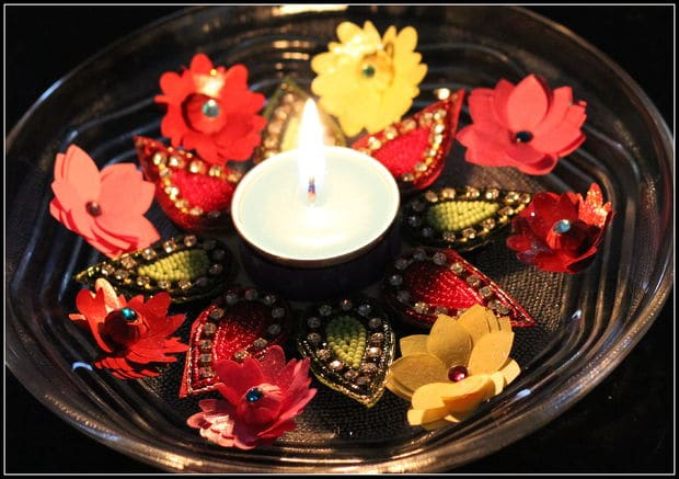 decorative tea-light andle holder