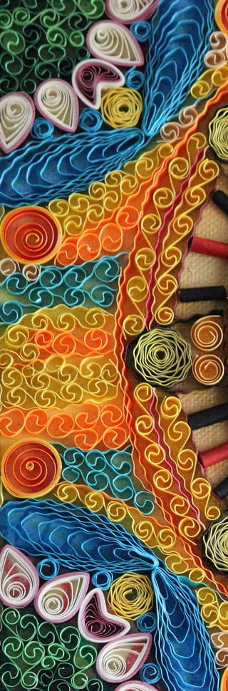 madhubani paintings from quilling