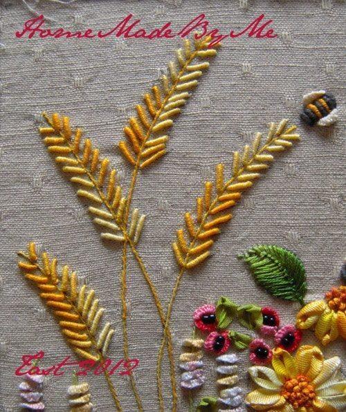 bullion knot stitch flower