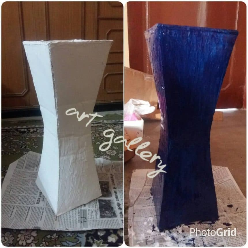 How to make flower vase from cardboard