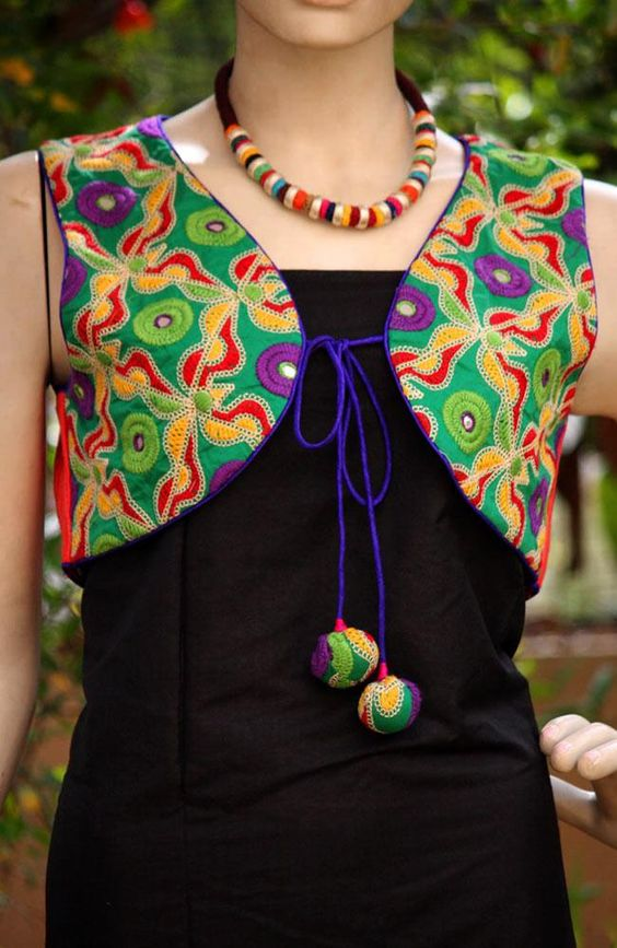 Different Types Of Jacket Style Kurtis Designs - Simple Craft Ideas