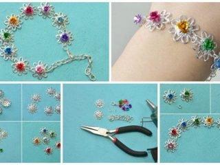 handmade flower bracelet for girls
