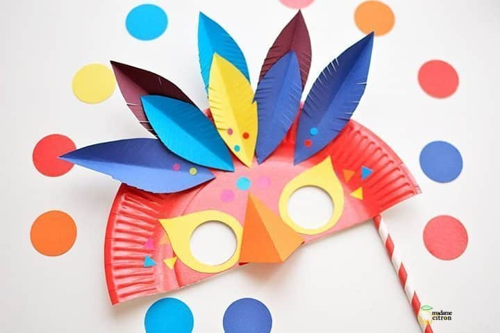 How to make carnival mask - Simple Craft Ideas