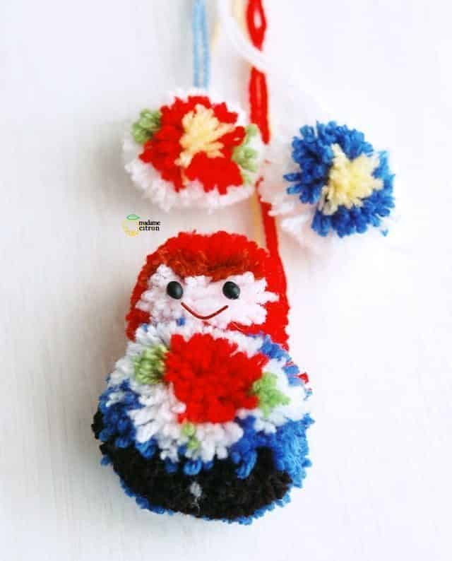 pompom matriochka doll