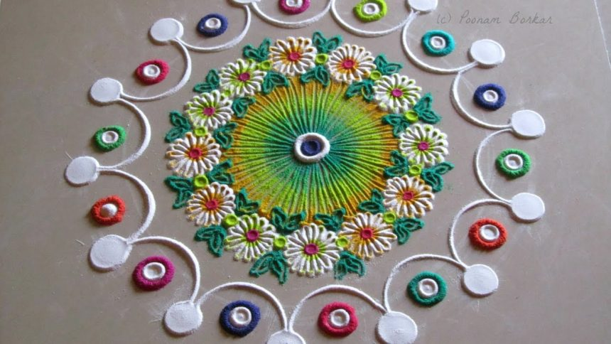 Small And Quick Rangoli Design Simple Craft Ideas