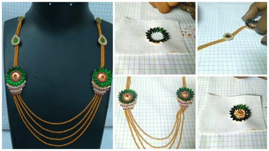How to make designer necklace