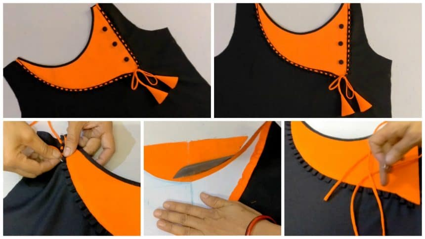 How to make beautiful neck design with easy steps