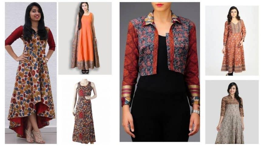 17 Fabulously Kalamkari Kurti Designs For Women Simple