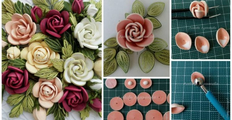 how to make a quilling rose simple craft ideas
