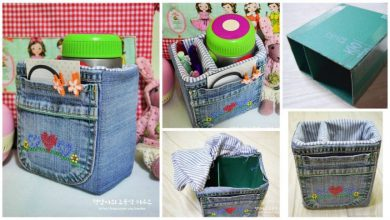 denim storage bags