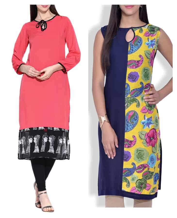 Round Neck Designs On Dresses