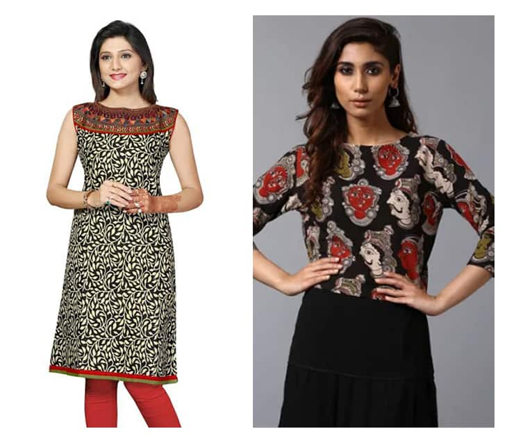 17 Fabulously kalamkari kurti designs for women – Simple ...