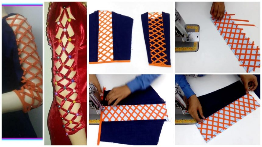 How to sew a strip design sleeve