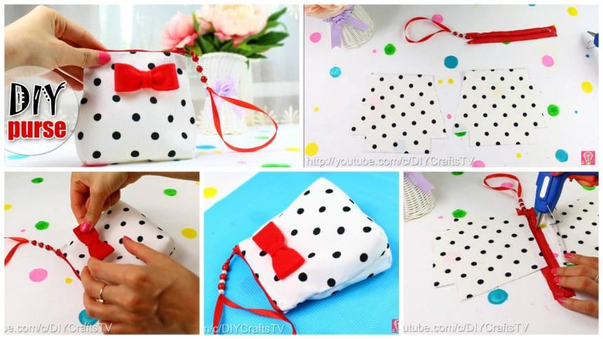 How To Make A Sweet Zipper Bag Simple Craft Ideas