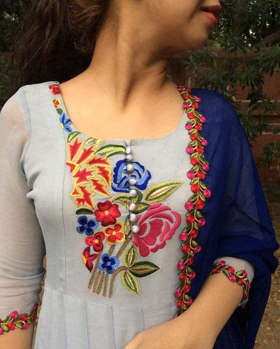 Simple embroidery patterns for kurti pixshark