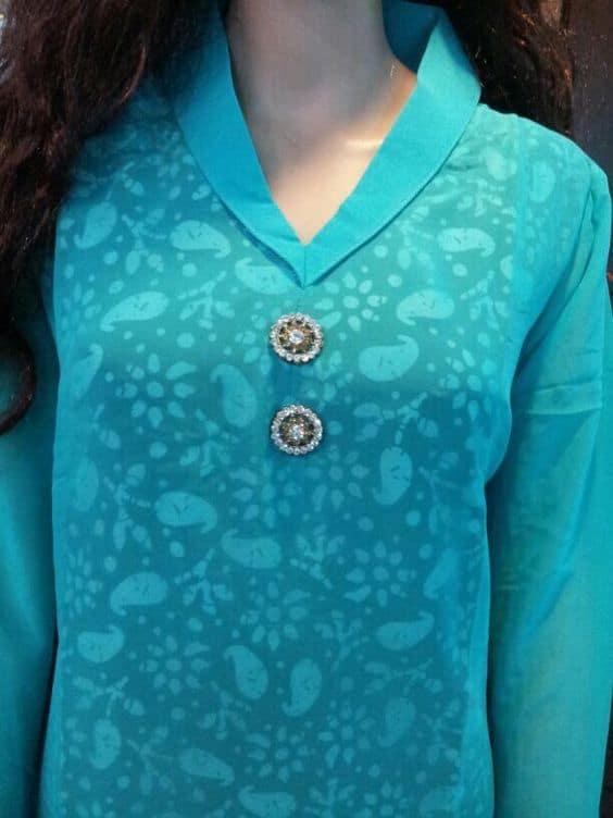 Stand Collar Neck Designs For Kurtis : Different types of kurtis designs simple craft ideas