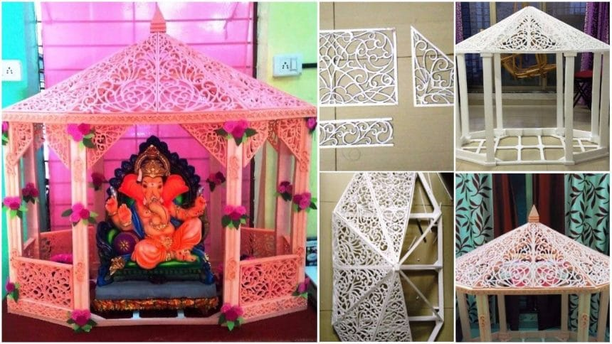 How to make thermocol decorative temple