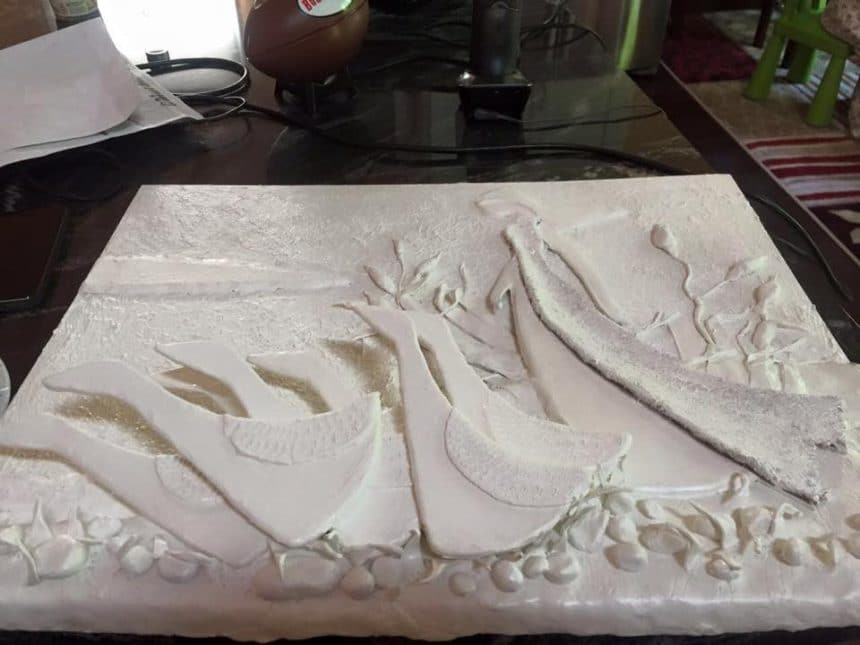 How To Do Clay Mural Art Simple Craft Ideas