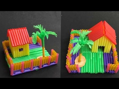 How To Make Paper House Or Doll With Straws Dollhouse Awesome Miniature