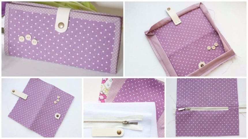 How to sew a simple and convenient holder with a zipper