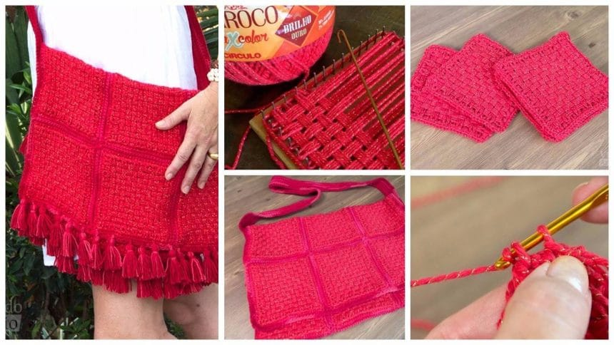 How to make a messenger bag with patch loom