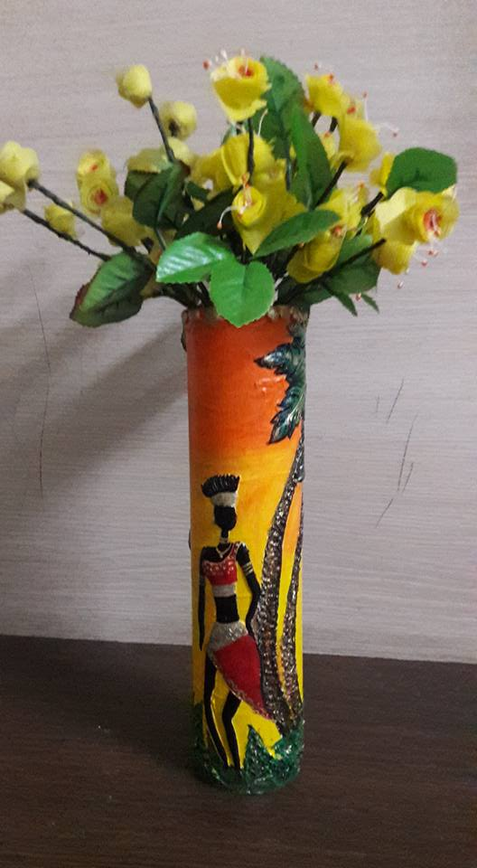 How to make flower pot made with waste pipe and clay work for Flower pot making with waste material