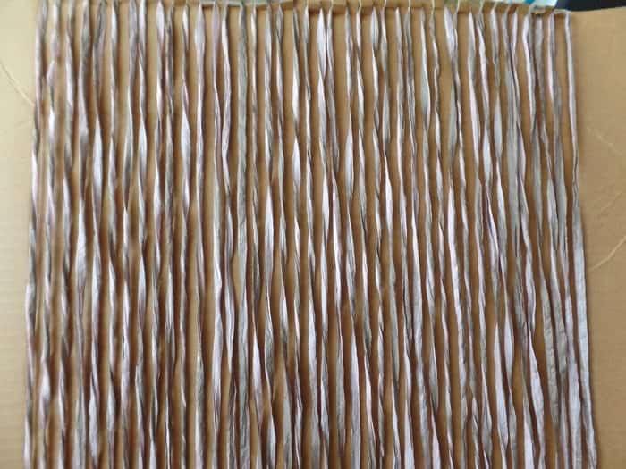 weaving on cardboard