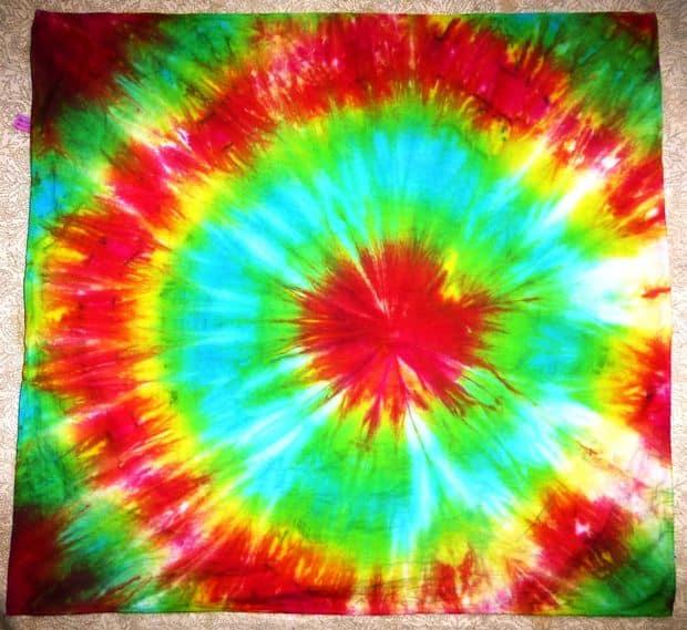 tie-dyed rainbow bandana
