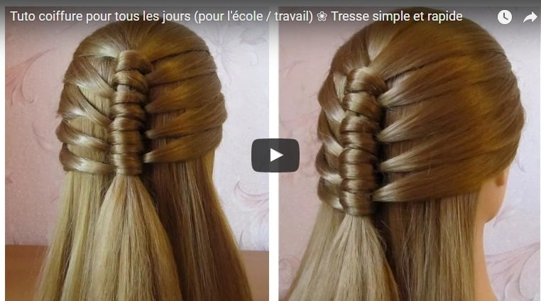 Tuto hairstyle for everyday