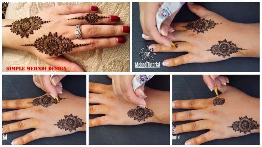 Quick And Easy Mehndi Design Tutorial Simple Craft Ideas