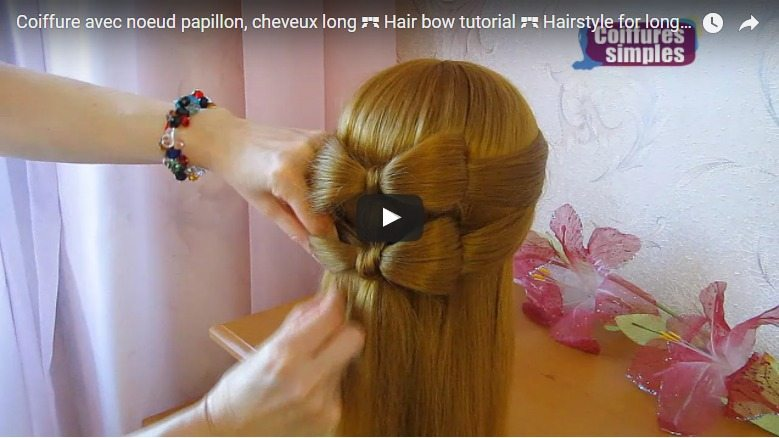 Hairstyle with bow tie