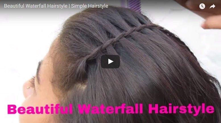 Beautiful waterfall hairstyle