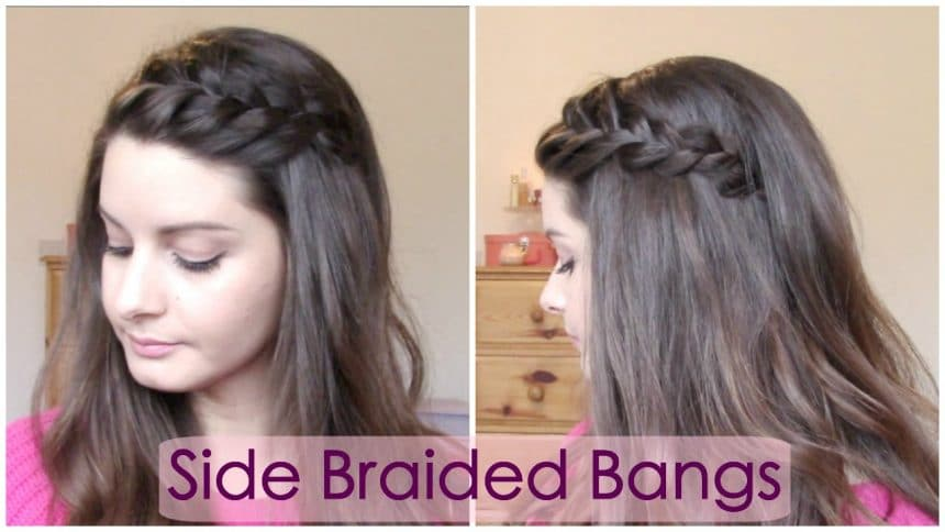 Side braided bangs hairstyle - Simple Craft Ideas