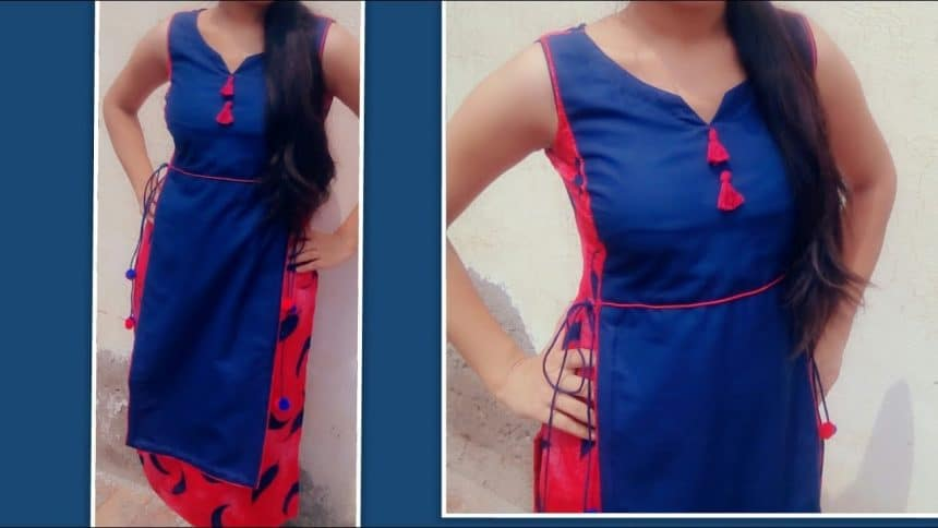 Double Layer Kurti Cutting And Stitching Simple Craft Ideas