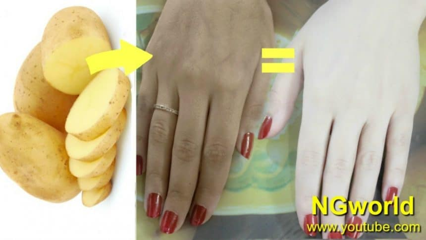 How to get milky fair skin from potato