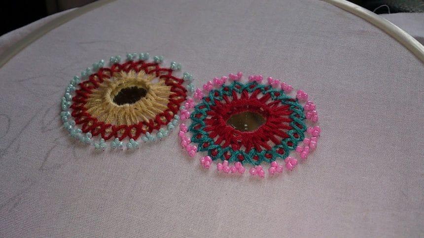 Hand Embroidery Mirror Work Designs U2013 Simple Craft Ideas