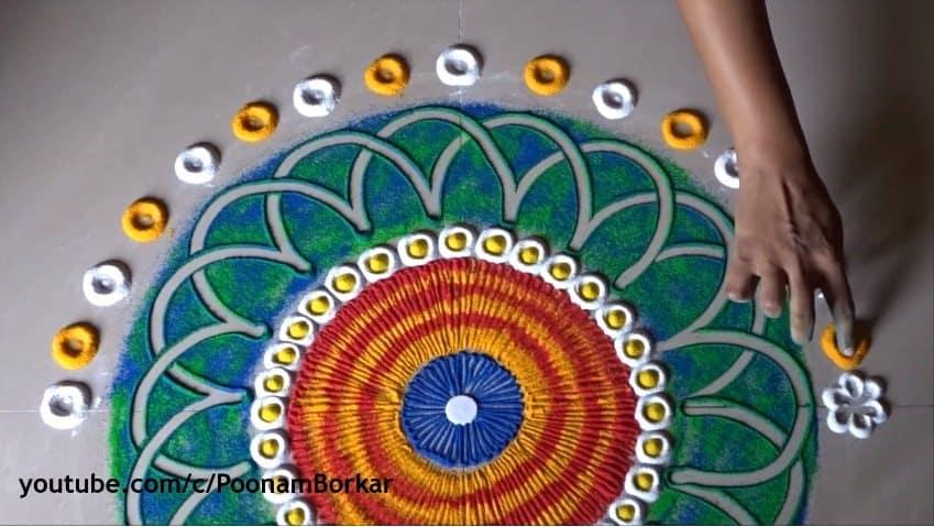 Easy Quick And Beautiful Rangoli Design