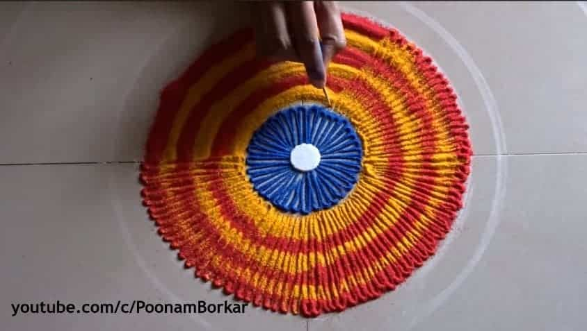 easy  quick and beautiful rangoli design