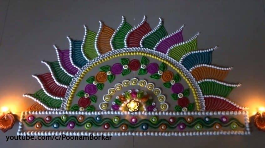 diwali special multicoloured semi