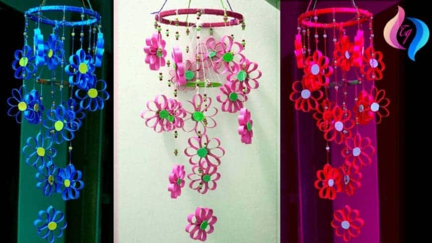 How to make wind chimes out of paper simple craft ideas for How to make a simple wind chime