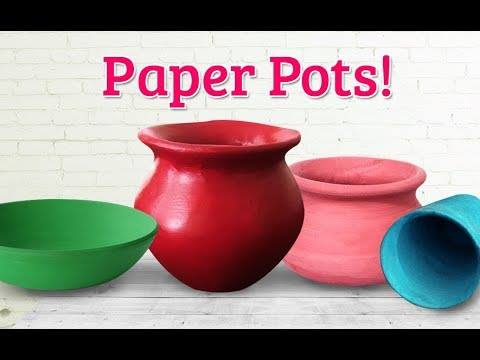 How To Make Realistic Paper Pot For Wall Hanging Simple