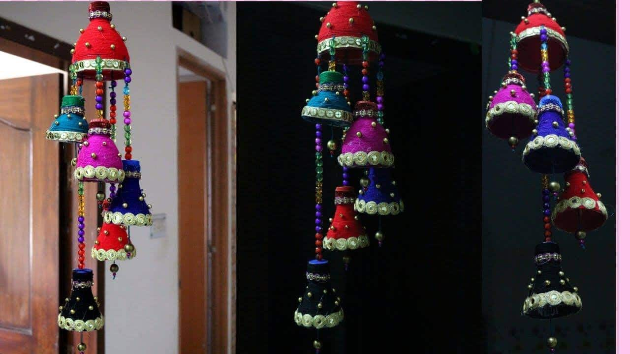 How to make wind chime out of plastic bottle simple for Art out of plastic bottles