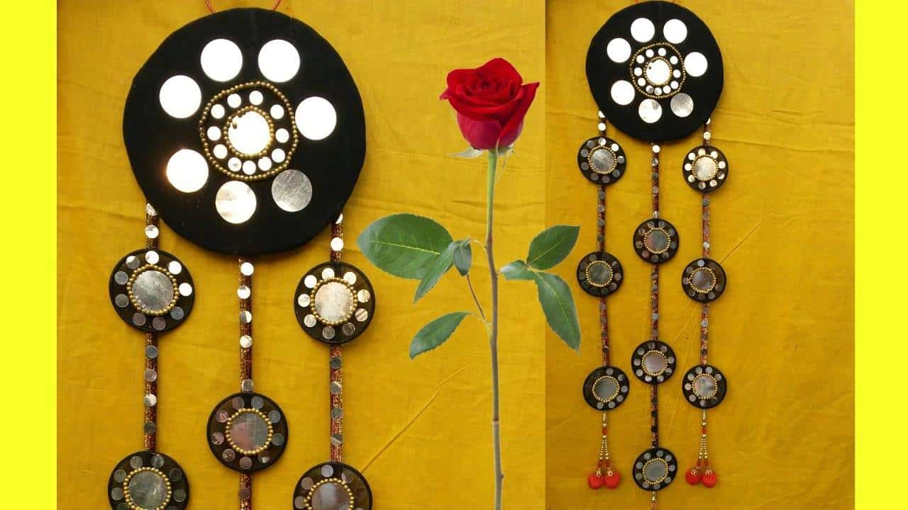 How to make beautiful wall hanging with bangles – Simple Craft Ideas