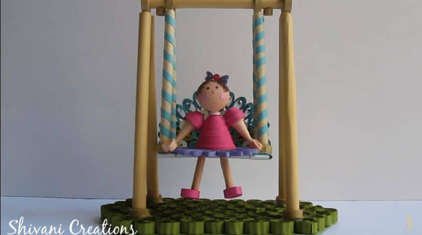 paper swing with quilling doll