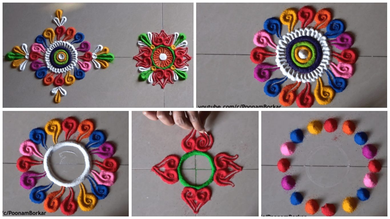 how to put rangoli designs