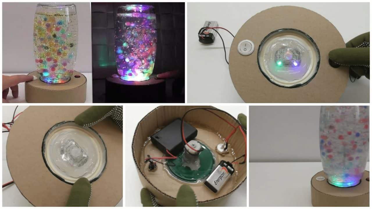 lamp with cardboard