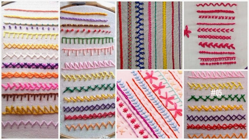 Easy Hand Embroidary Stitches For Beginners