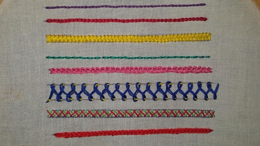 Easy hand embroidary stitches for beginners simple craft
