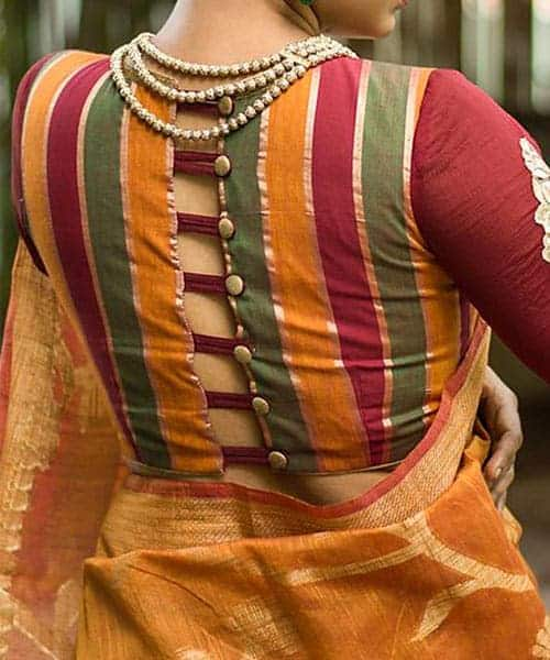 Blouse Stand Neck Designs : Latest blouse back neck designs simple craft ideas